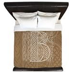 Celtic Letter B King Duvet Cover