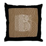Celtic Letter B Throw Pillow