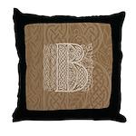 Celtic Letter B Throw Pillow