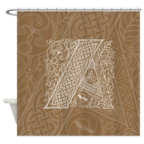 Celtic Letter A Shower Curtain