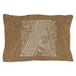Celtic Letter A Pillow Case