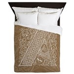 Celtic Letter A Queen Duvet Cover