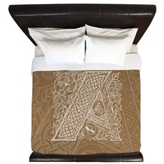 Celtic Letter A King Duvet Cover