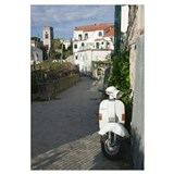 Scooter on the street, Ravello, Salerno, Campania,