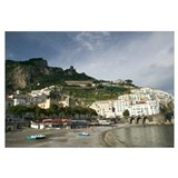 Town on the hillside, Amalfi, Campania, Italy