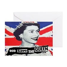 GOD SAVE THE QUEEN Greeting Cards (Pk of 20)