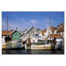 Fishing boats at a port, Smogen, Sotenas Municipal