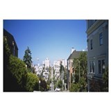 Road Passing Through A City, Pacific Heights, San