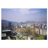 High angle view of a city, Stuttgart, Germany