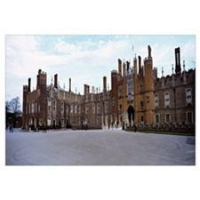 Facade of a building, Hampton Court Palace, London