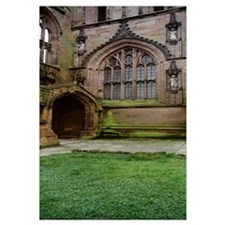 Lawn in front of a cathedral, Coventry Cathedral,