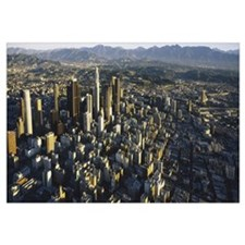 Aerial view of a city, City Of Los Angeles, Califo