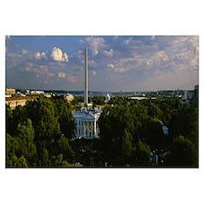 High angle view of a city, Washington DC