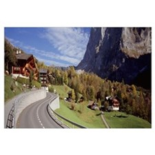 Road passing through a landscape, Grindelwald, Int