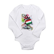 Flower Hungary Long Sleeve Infant Bodysuit