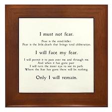 Litany Against Fear Framed Tile