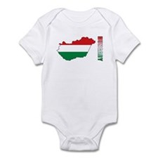 Map Of Hungary Infant Bodysuit