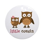 Little Cousin - Mod Owl Ornament (Round)