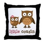 Little Cousin - Mod Owl Throw Pillow