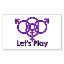 "Swinger Symbol ""Let's Play"" Decal"