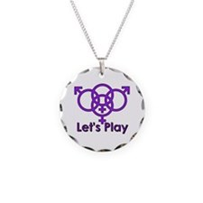 "Swinger Symbol ""Let's Play"" Necklace"