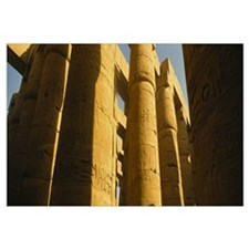 Low angle view of columns in a temple, Temples of