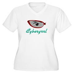 Cybergrrl Women's Plus Size V-Neck T-Shirt
