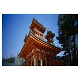 Low angle view of a pagoda, Heian Jingu Shrine, Ky