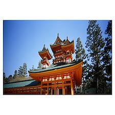 Low angle view of a pagoda, Heian Jingu Shrine, Ky