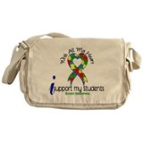 With All My Heart Autism Messenger Bag