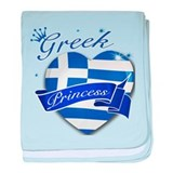 Greek Princess baby blanket