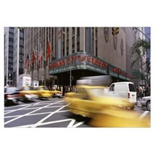 Cars in front of a building, Radio City Music Hall