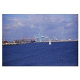 Sailboat in the sea, Los Angeles Harbor, City of L