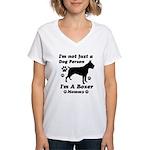 Boxer Mommy Women's V-Neck T-Shirt