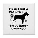Boxer Mommy Tile Coaster