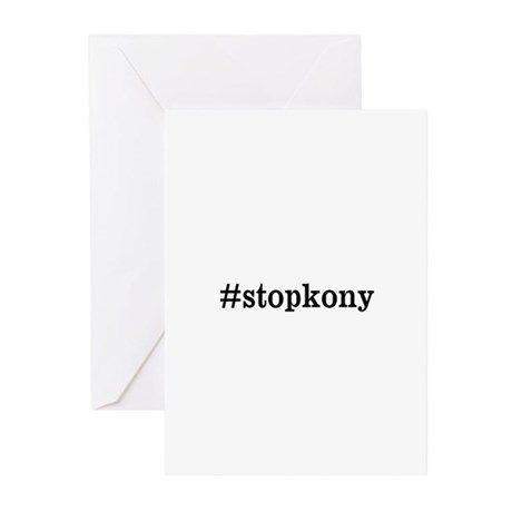 #stopkony dark Greeting Cards (Pk of 20)
