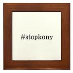 #stopkony dark Framed Tile