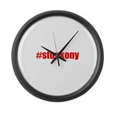 #stopkony Uganda Large Wall Clock