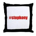 #stopkony Uganda Throw Pillow