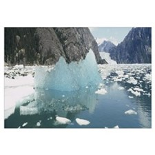 Icebergs floating in a lake, LeConte Glacier, Alas