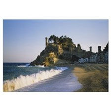 Tourist resort on the beach, Tossa De Mar, Costa B