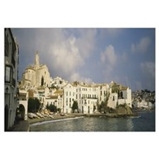 Town at the waterfront, Cadaques, Costa Brava, Cat