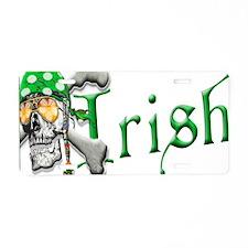 Irish Pirate Scull and Bones Aluminum License Plat