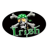Irish Pirate Scull and Bones Bumper Stickers