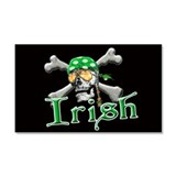 Irish Pirate Scull and Bones Car Magnet 20 x 12