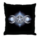 Moonstone Triple Goddess Throw Pillow