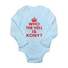 Who The Hell Is Kony? Long Sleeve Infant Bodysuit