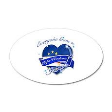 I heart Cape verdean Designs 38.5 x 24.5 Oval Wall