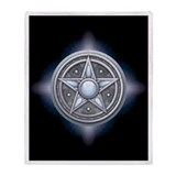 Silver Moonstone Pentacle Throw Blanket