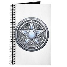 Silver Moonstone Pentacle Journal